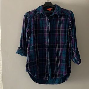 Joe Fresh XS Roll Tab Lined Flannel